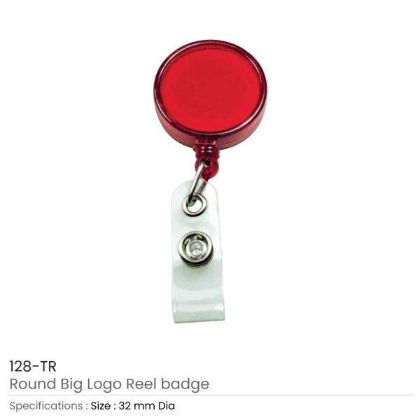 Reel Badges Transparent Red