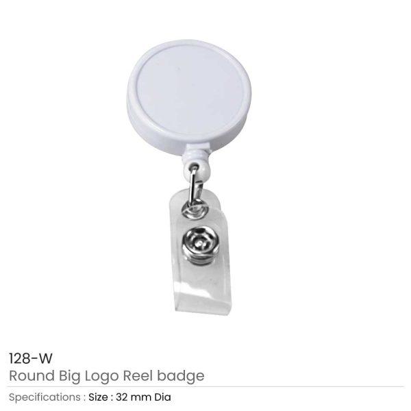 Round Logo Reel Badge White