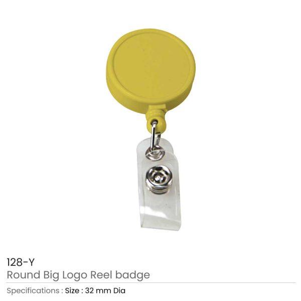 Round Logo Reel Badge Yellow
