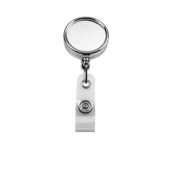 Round Badge Reels in Silver Mirror Shiny