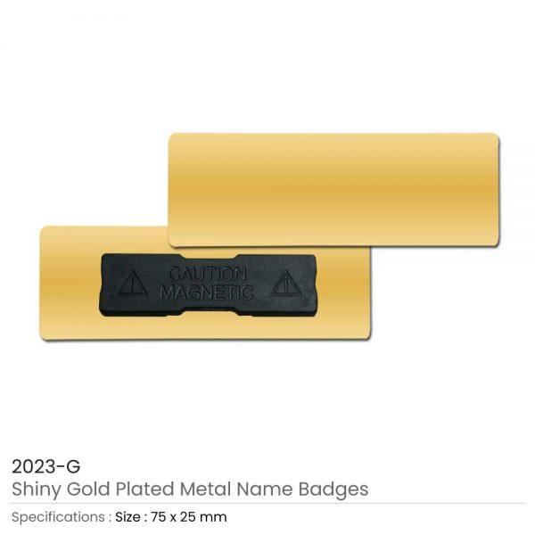 Gold Metal Name Badges