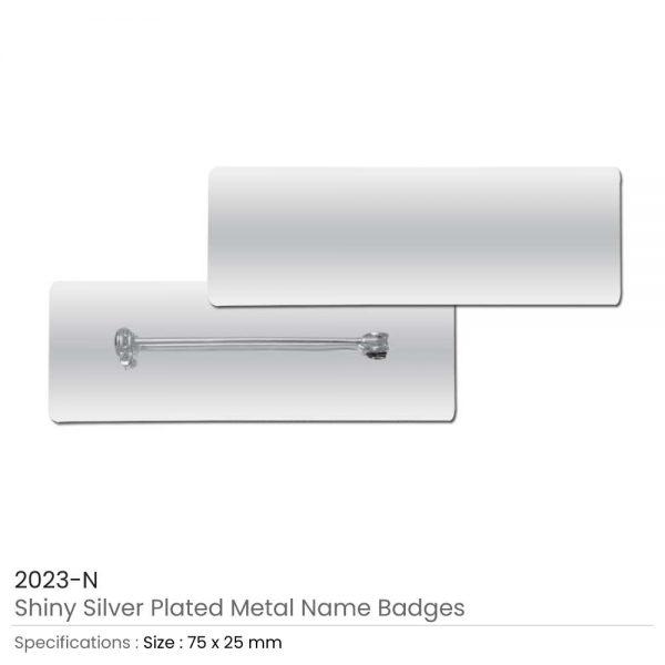 Silver Metal Name Badges