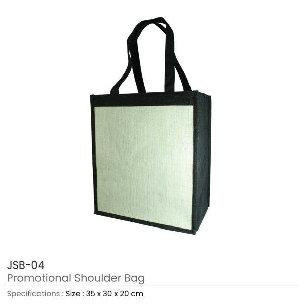 Jute Shoulder Bags - Black