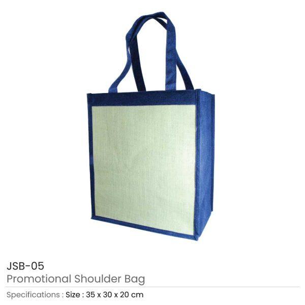 Jute Shoulder Bags - Blue
