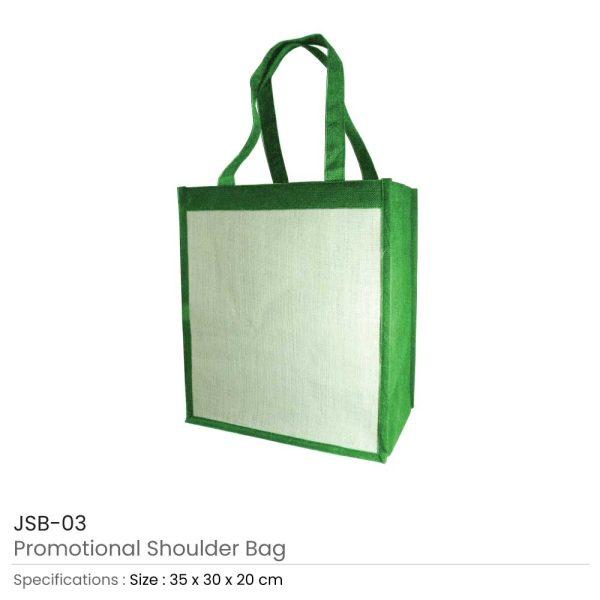 Jute Shoulder Bags - Green