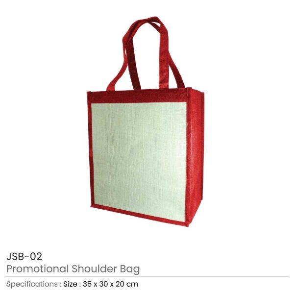 Jute Shoulder Bags - Red