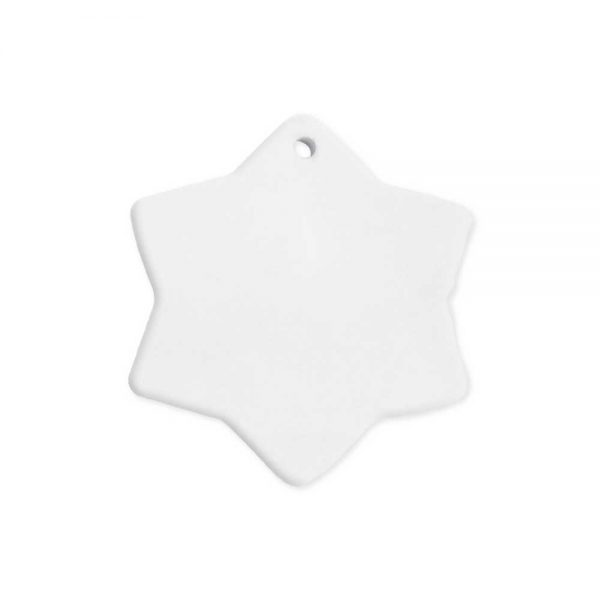 Snowflake ceramic ornaments