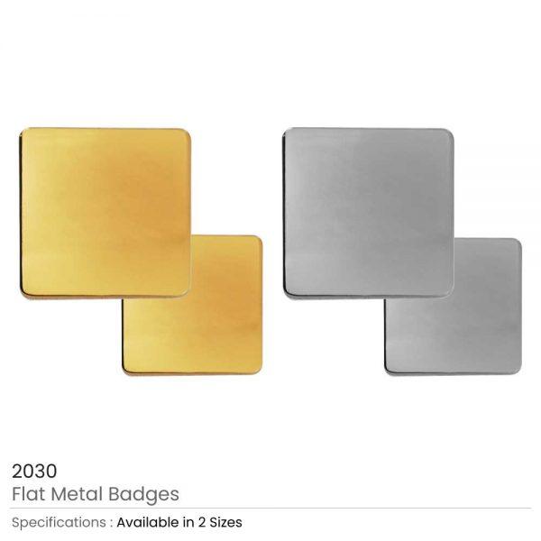 Square Flat Metal Badges