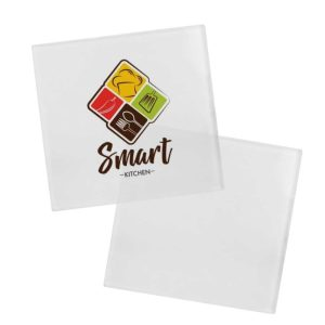Branding Square Glass Tea Coasters