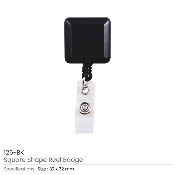 Black Badge Reels in Square Shape