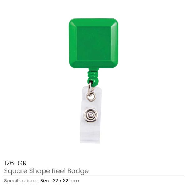 Green Badge Reels in Square Shape