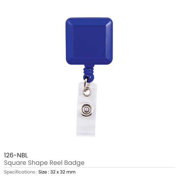 Navey Blue Badge Reels in Square Shape