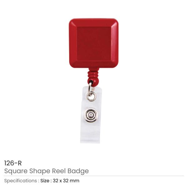 Red Badge Reels in Square Shape