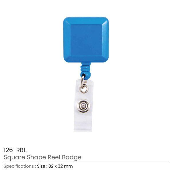 Roayl Blue Badge Reels in Square Shape
