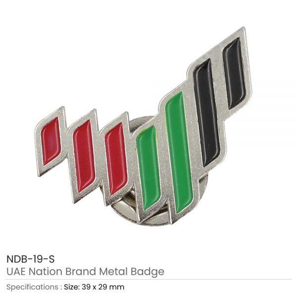 UAE National Brand Badges Silver