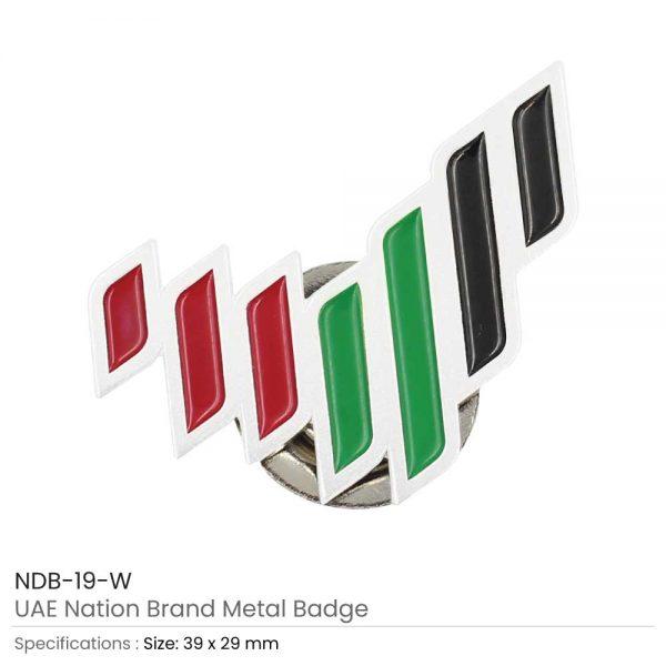 UAE National Brand Badges White