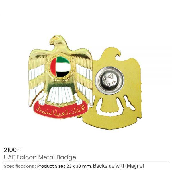 UAE Falcon Metal 3D Badges
