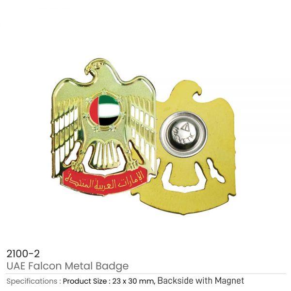 UAE Falcon Metal Badges