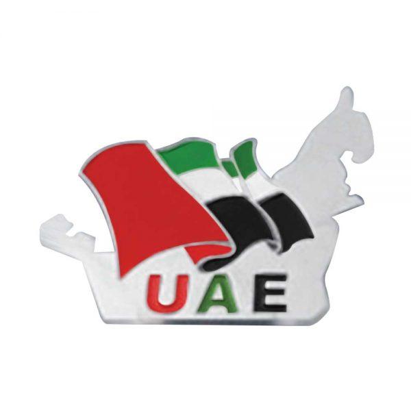 UAE Map Shape Flag Badges