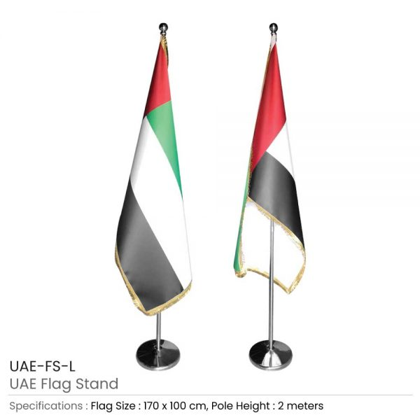 UAE Flag with Stand Large Size