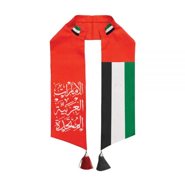 UAE Flag Satin Scarf