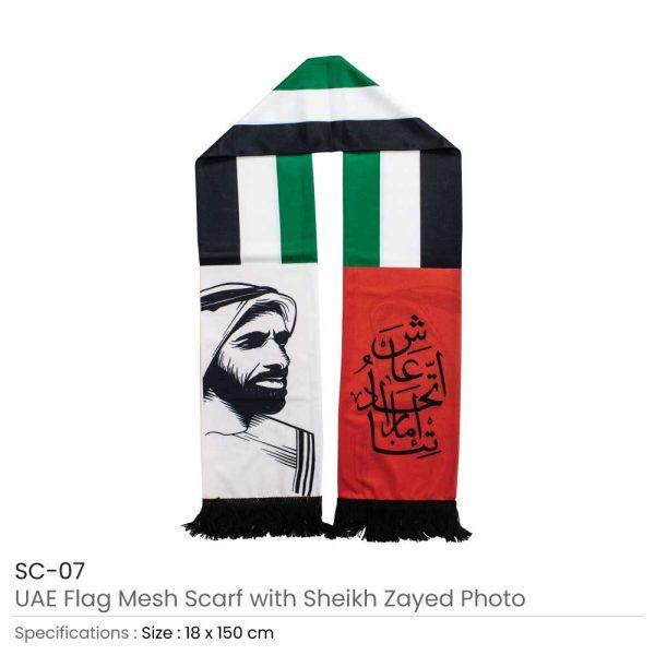 UAE Flag Scarf