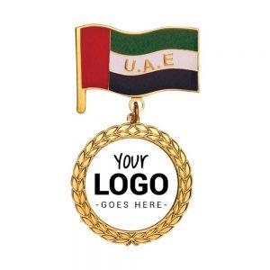 UAE Flag Medal with Logo