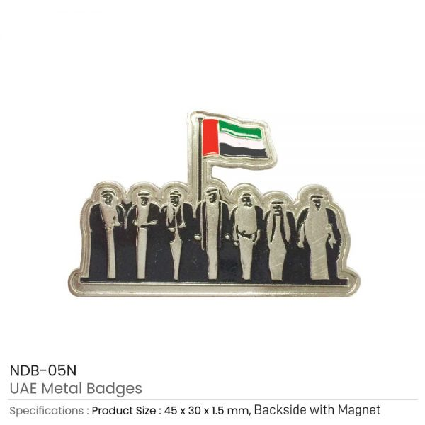 UAE Metal Badges Silver