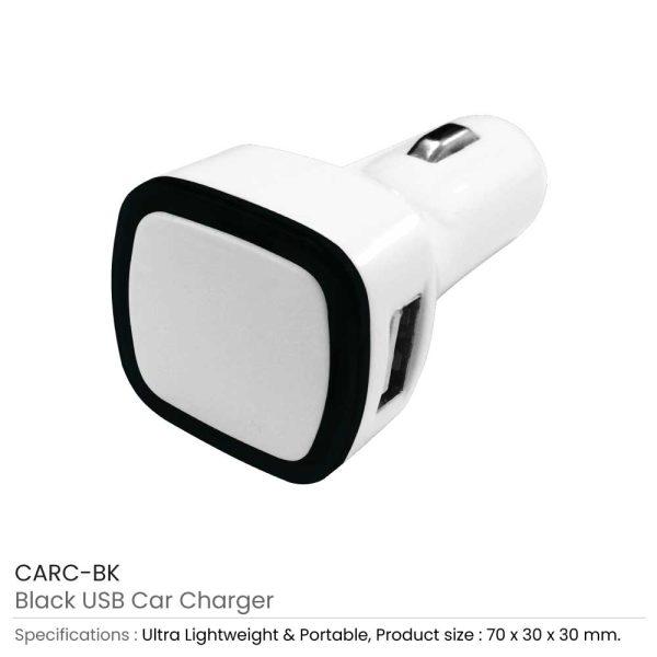 USB Car Charger CARC-BK