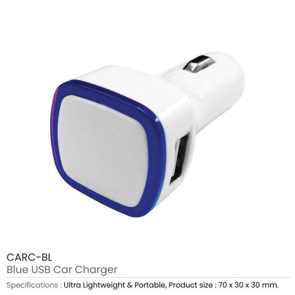 USB Car Charger CARC-BL