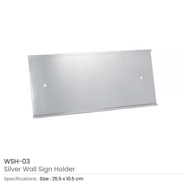 Wall Sign Holder Silver