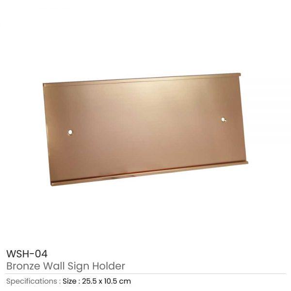 Wall Sign Holder Bronze