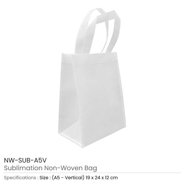 A5 White Sublimation Bags NW-SUB-A5