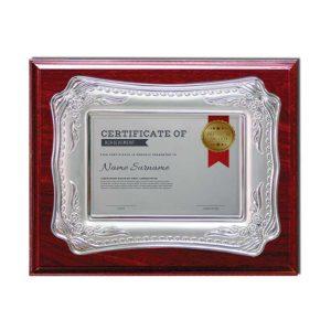 Wooden Plaque Silver