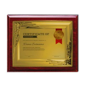 Wooden Plaques Gold Laserable Plate