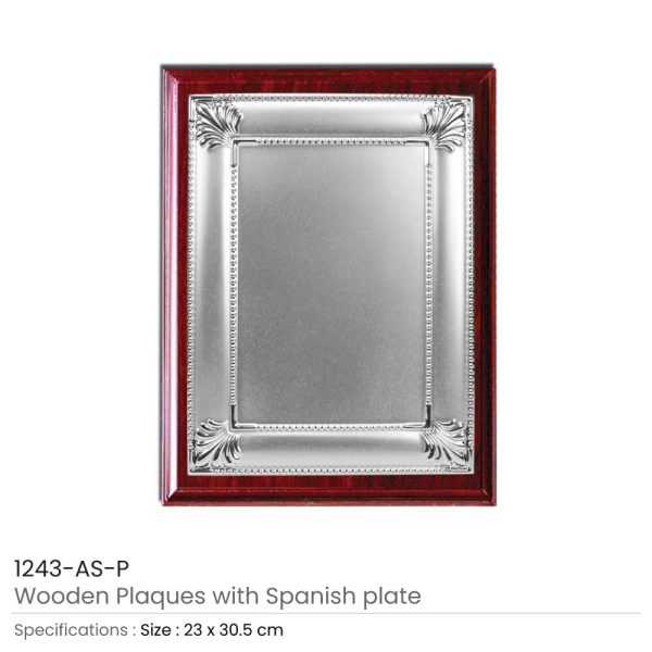 Wooden Plaques Silver Laserable Plate