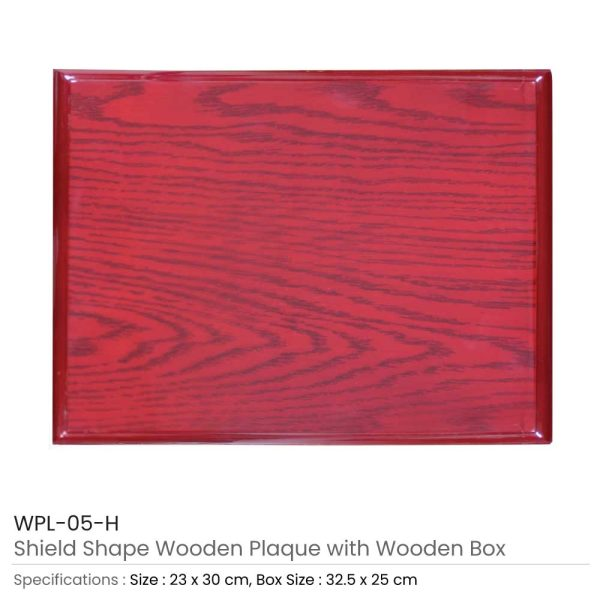 Large Wooden Plaques with Box