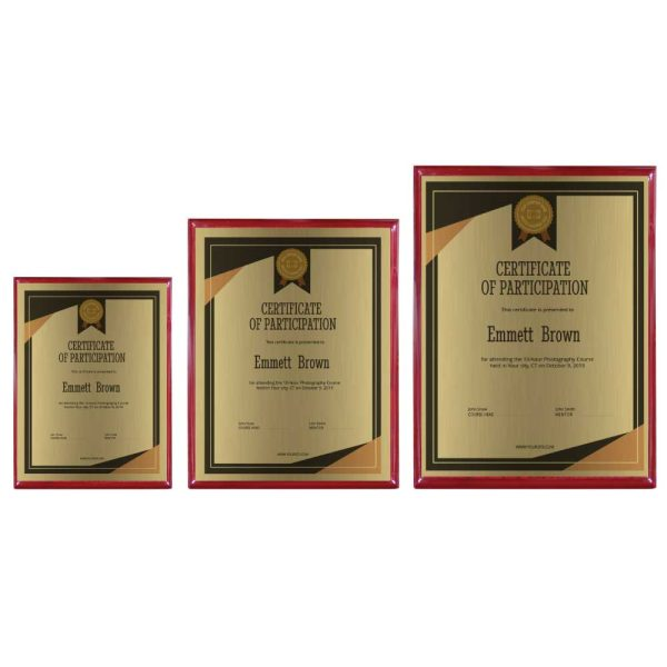 Engraved Wooden Plaques with Box