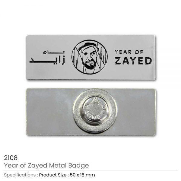 Year of Zayed Rectangular Badges