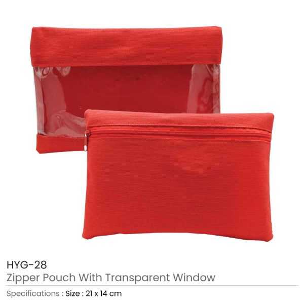Promotional Zipper Pouch Red