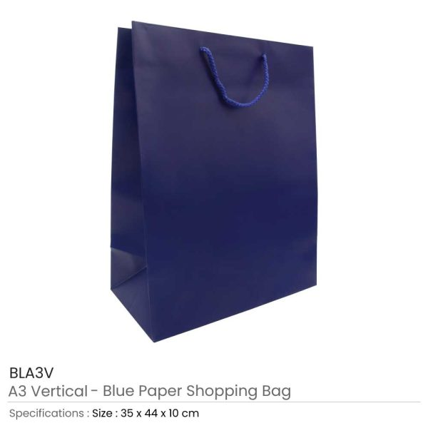 Blue Paper Shopping Bags