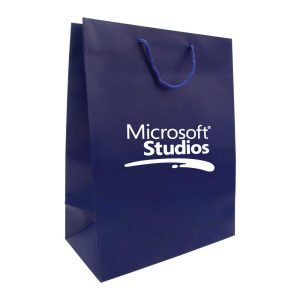 Branding A3 Blue Paper Shopping Bags