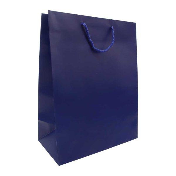 A3 Vertical Blue Paper Shopping Bags