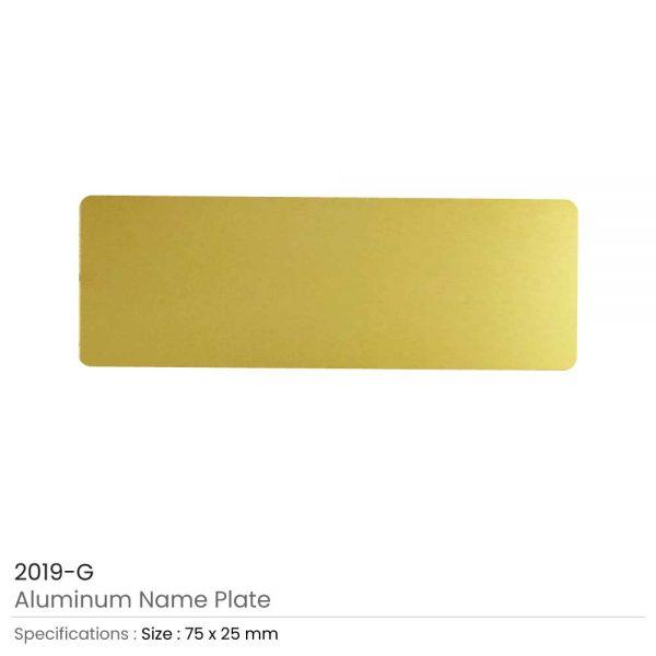 Gold Aluminum Name Plate