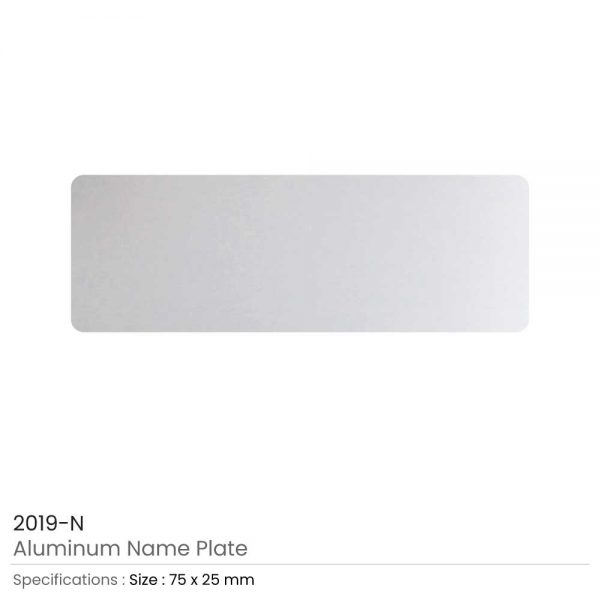 Silver Aluminum Name Plate for Badges