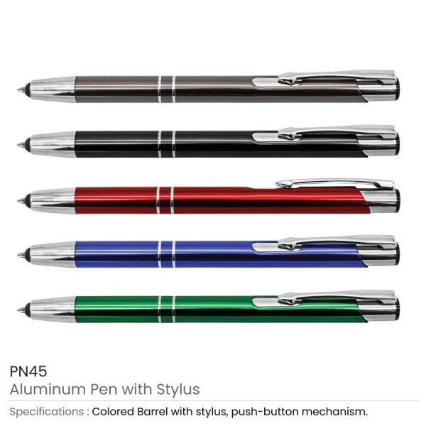 Promotional Aluminum Pens with Stylus