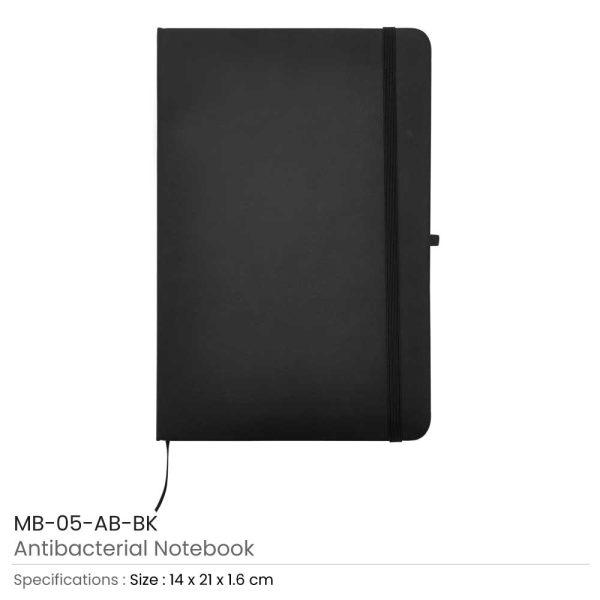 Antibacterial Notebooks Black