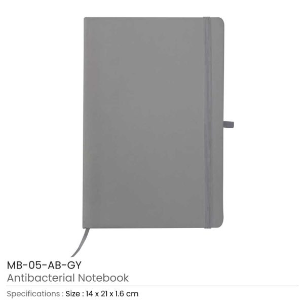 Antibacterial Notebooks Grey