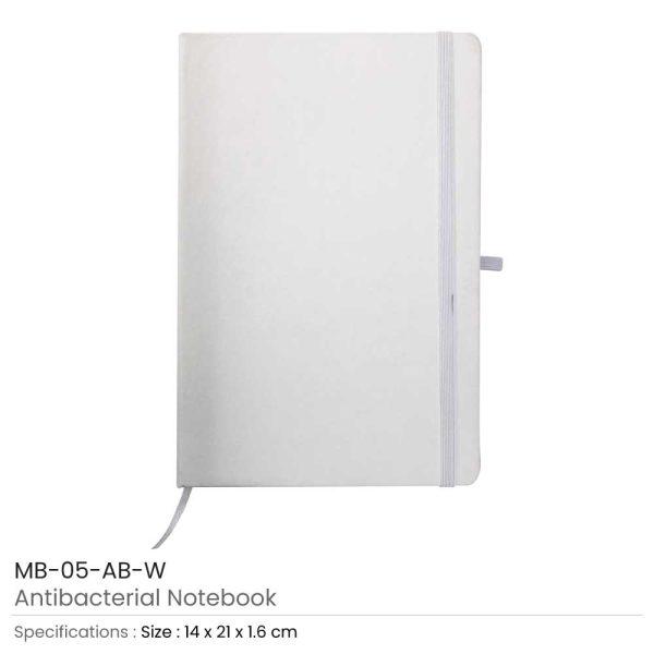 Antibacterial Notebooks White
