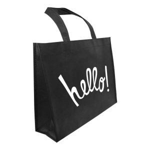 Branding A4 Black Non Woven Bags NW-A4H-BK